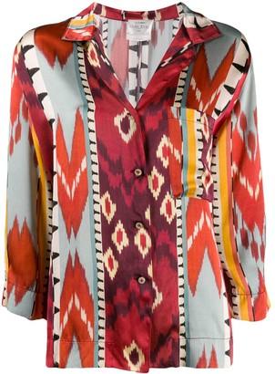 Forte Forte Geometric Print Silk Shirt