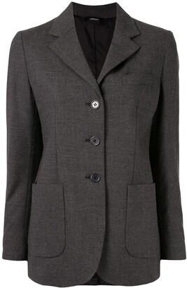 Aspesi fitted single-breasted blazer