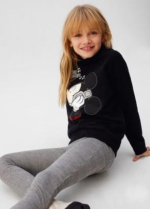 MANGO Mickey Mouse metallic appliques sweatshirt