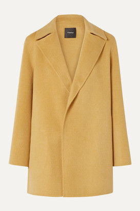 Theory Wool And Cashmere-blend Coat - Mustard