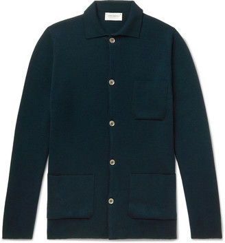 John Smedley Copper Slim-Fit Merino Wool Cardigan