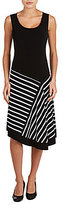 Allison Daley Sleeveless Asymmetrical Flared Dress