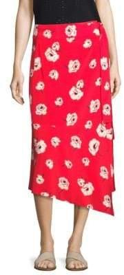Derek Lam 10 Crosby Floral Wrap Skirt