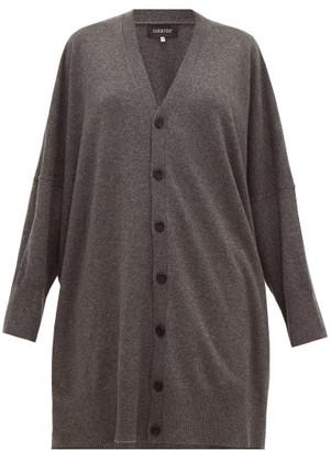 eskandar Longline Oversized Cashmere Cardigan - Grey