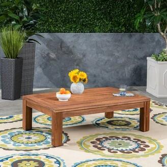 Murdock Solid Wood Coffee Table Loon Peak Top Color: BrownPatina