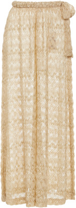 Missoni Mare Gold Wave Sheer Pants