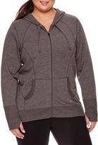 Xersion Long-Sleeve Curve Seam Front-Zip Hoodie - Plus