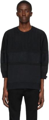 Undercover Black Three-Quarter Sleeve Sweater