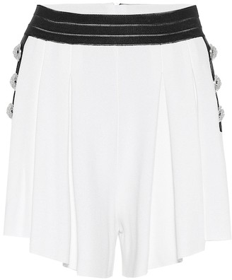 Balmain Embellished knit shorts
