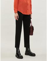 Joseph Coman slim high-rise stretch-crepe trousers