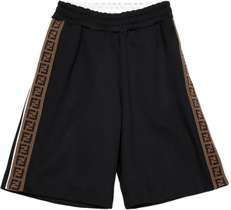 Fendi Boy's Side Snap Logo Track Shorts, Size 8-14