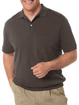 Harbor Bay Banded-Bottom Pique Polo Casual Male XL Big & Tall
