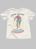 Junk Food Clothing Boys Here Comes Spiderman Tee-ivory-xl