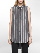Calvin Klein Striped Sleeveless Tunic