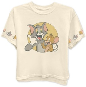 Warner Brothers Juniors' Tom & Jerry Graphic T-Shirt