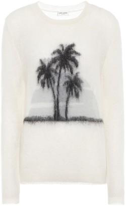Saint Laurent Sunset mohair-blend sweater