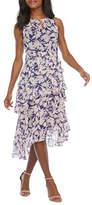 Ronni Nicole Sleeveless Floral Midi Fit & Flare Dress