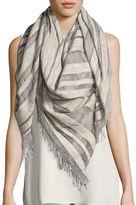 Eileen Fisher Maltinto Striped Organic Cotton Scarf