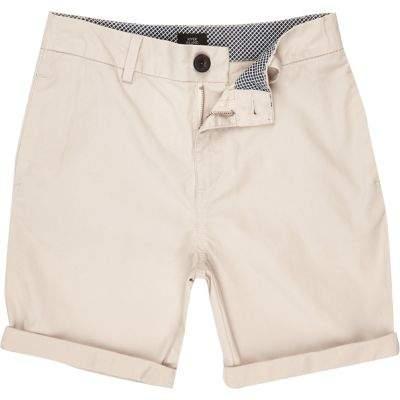 River Island Boys stone chino shorts