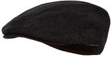 J By Jasper Conran Dark Grey Concealed Earflap Flat Cap