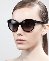Prada Rounded Cat-Eye Sunglasses, Black