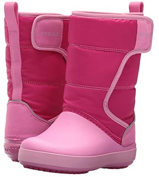Crocs LodgePoint Snow Boot (Toddler/Little Kid) (Candy Pink/Party Pink) Kids Shoes