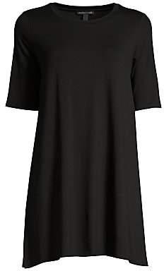 Eileen Fisher Women's Elbow-Sleeve Stretch-Tencel Tunic
