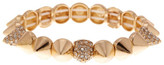 Natasha Accessories Crystal Accented Spike Bracelet