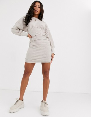 ASOS DESIGN underwire sweat dress with ruching
