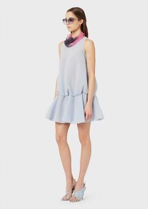 Emporio Armani Flounced Jersey Dress