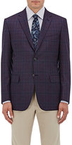 Brioni Men's Plaid Wool Two-Button Sportcoat-DARK GREY