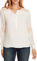 Vince Camuto Lace Detail Long Sleeve Blouse