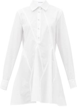J.W.Anderson Godet Hem Cotton Long-sleeved Shirt - White