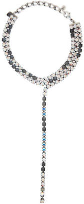 MM6 MAISON MARGIELA Silver Earring Crystal Choker Necklace