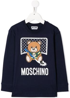Moschino Kids teddy bear logo print sweatshirt