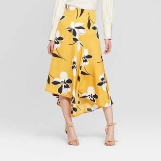 Who What Wear Women's Seamed Midi Slip Skirt