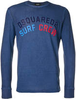 DSQUARED2 Surf Crew logo T-shirt