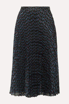 Paul & Joe Ksolare Pleated Metallic Floral-print Chiffon-jacquard Skirt - Black