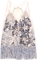 Rebecca Taylor Lace and appliqué cami top