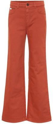 ALEXACHUNG Stretch-denim flared jeans