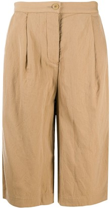 Casey Casey Pleated Cropped Trousers