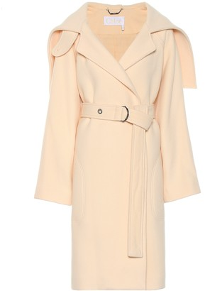 Chloé Belted wool-blend coat