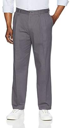 Amazon Essentials Classic-Fit Wrinkle-Resistant Pleated Chino Pant32W x 34L