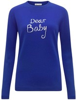 Bella Freud Dear Baby Jumper in blue