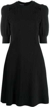 Ermanno Scervino Puff-Sleeve Midi Dress