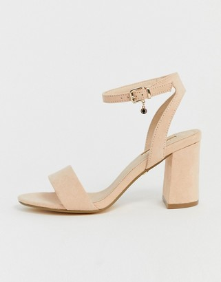 Office Marigold light pink block heeled sandals