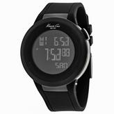 Kenneth Cole Classic 10008110 Men's Round Black Digital Silicone Watch