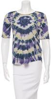 Raquel Allegra Short Sleeve Tie-Dye Print Top