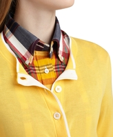 Brooks Brothers Cotton Tipped Cardigan