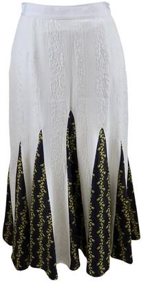 Francesco Scognamiglio White Silk Skirt for Women